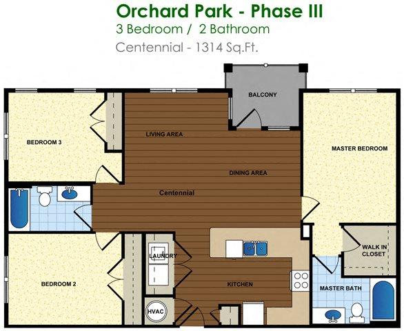 Centennial (3/2) Floor Plan 19