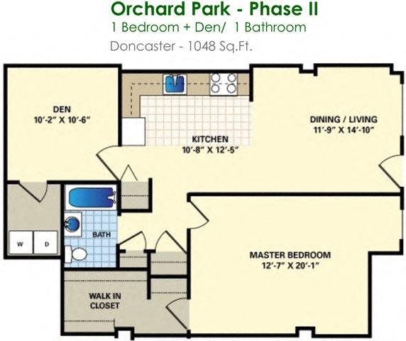 Doncaster (1/1) Floor Plan 2