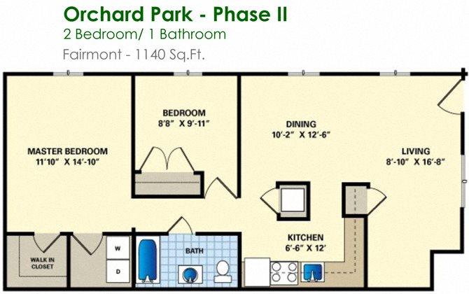 Fairmont (2/1) Floor Plan 10