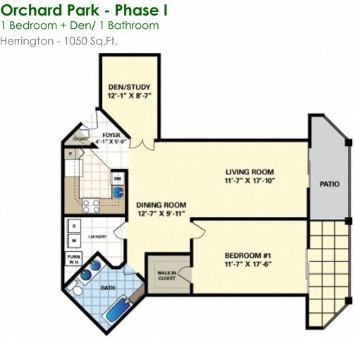Herrington (1/1) Floor Plan 7