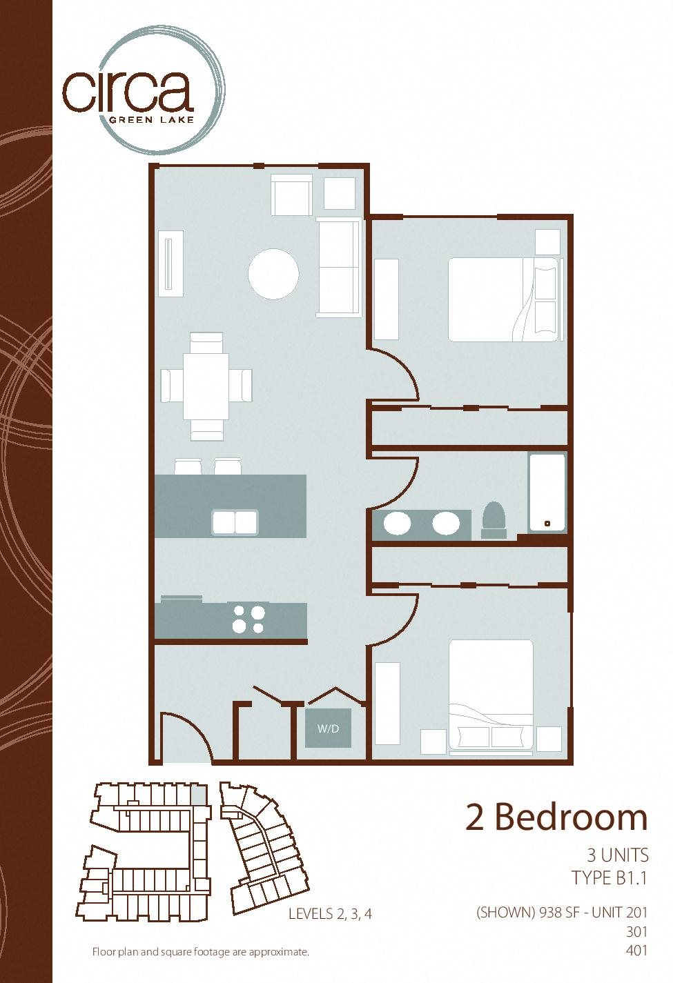 floor plans of circa green lake apartments in seattle, wa