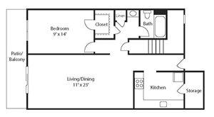 Stone Ridge Apartment Homes - 1 Bedroom 1 Bath Apartment