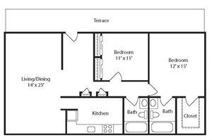 Stone Ridge Apartment Homes - 2 Bedroom 2 Bath Apartment
