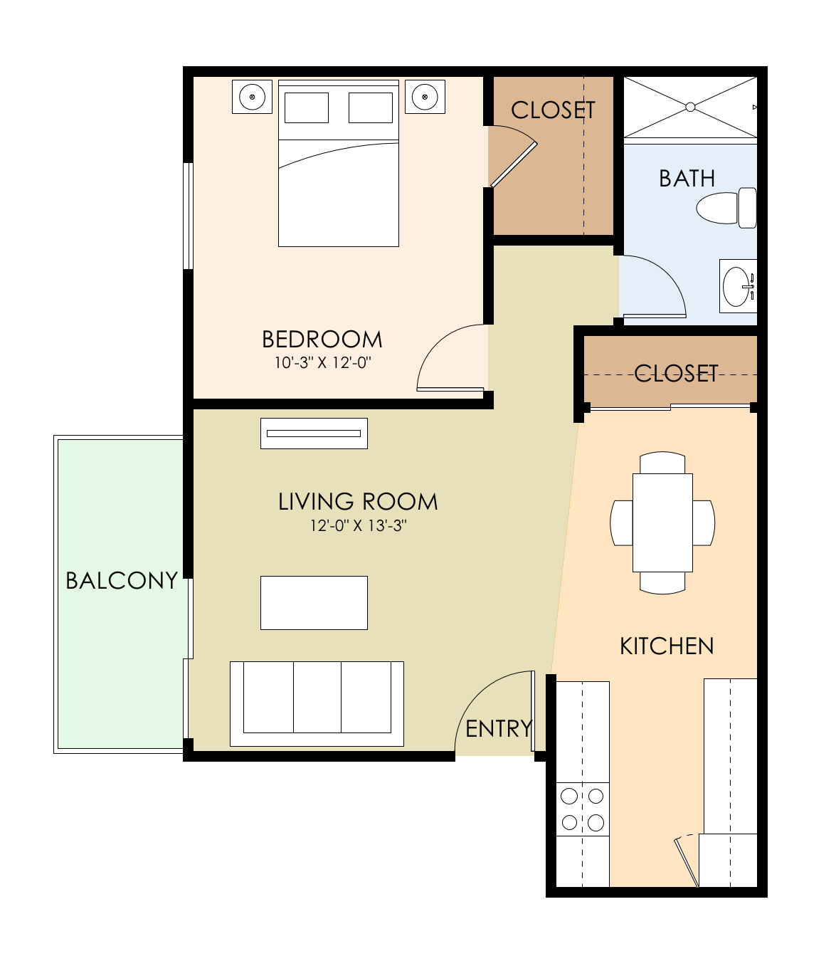 Sunnyvale Town Center Apartments: Floor Plans Of Sunnyvale Town Center In Sunnyvale, CA