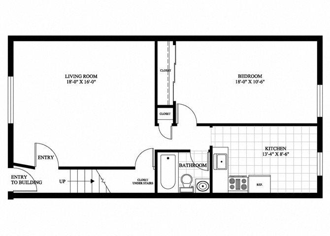 1 Bedroom Apartment Floor Plan 1