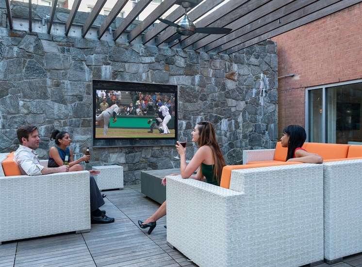 Outdoor Lounge at The Blairs, Silver Spring, MD