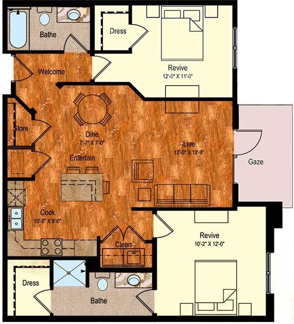 B-1 Floor Plan 2