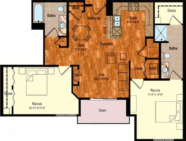 B-2 Floor Plan 4
