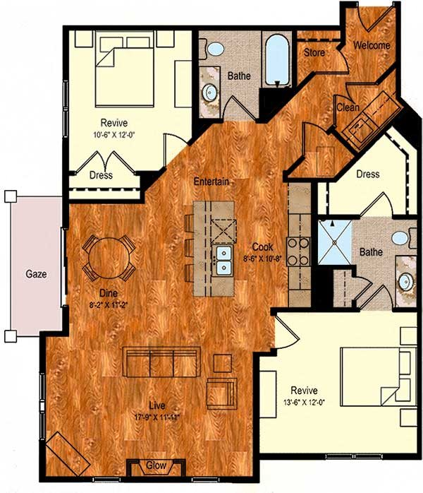 B-3 Floor Plan 16