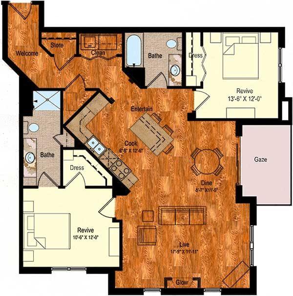 B-6 Floor Plan 5