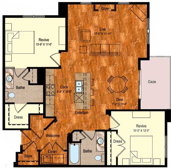 B-7 Floor Plan 13