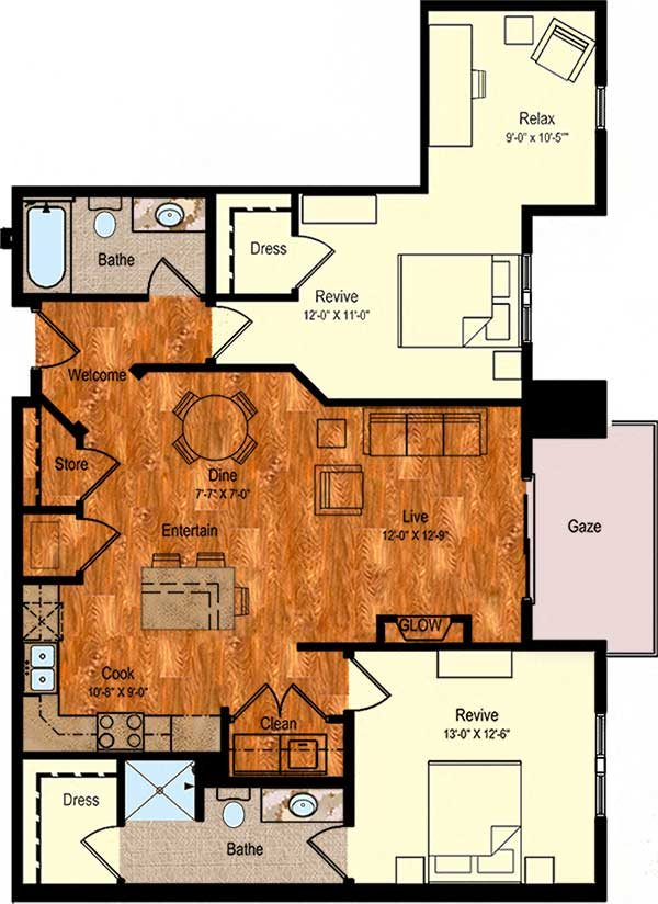 B-8 Floor Plan 14