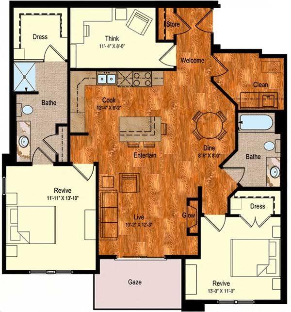 C-1 Floor Plan 15