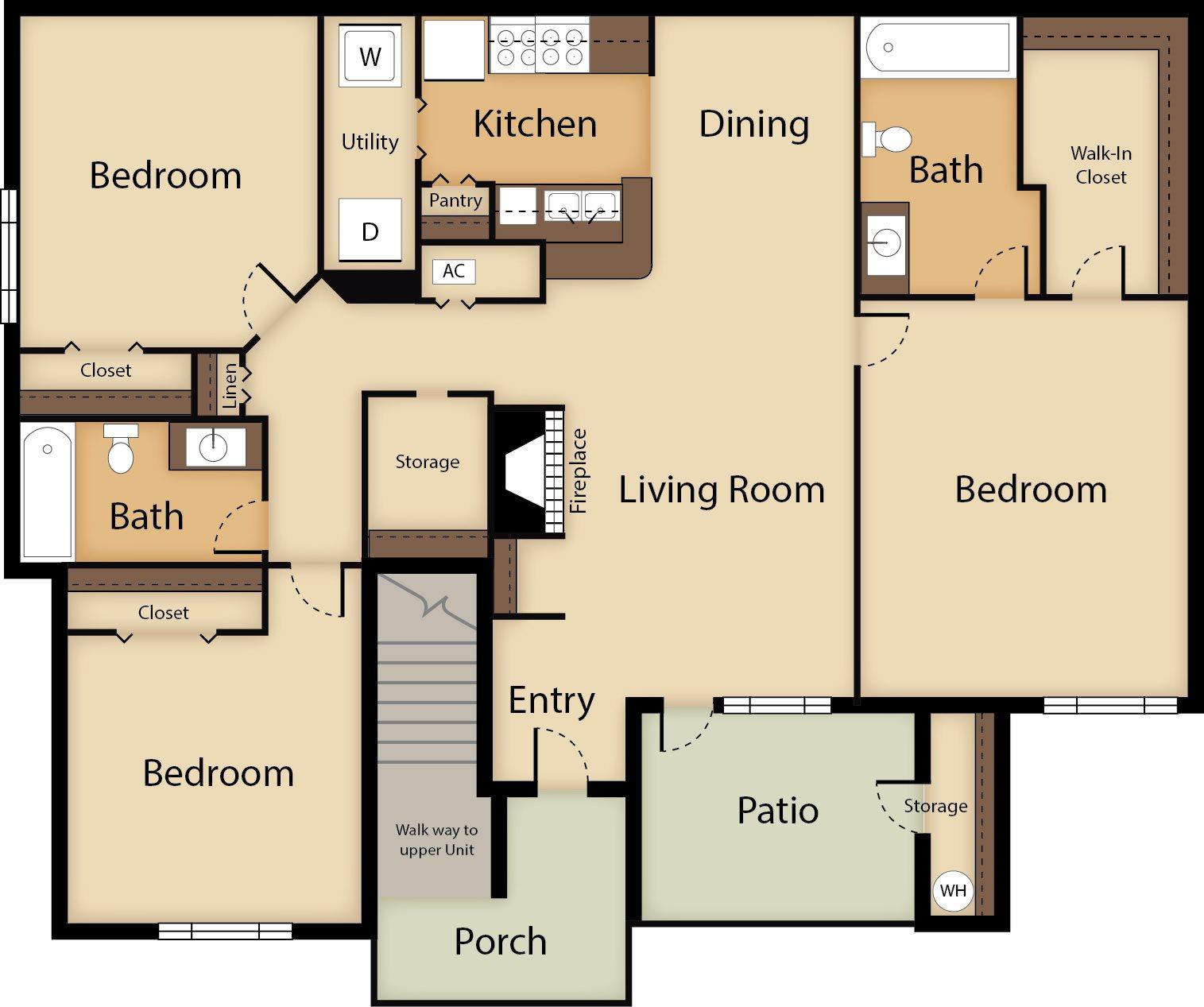 3 Bedroom Floor Plan 5
