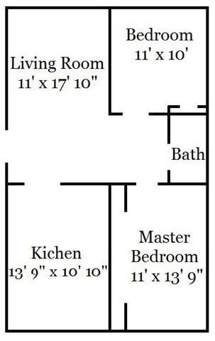 2 Bedroom Garden Floor Plan 2