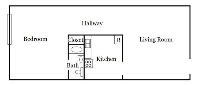 1 Bedroom Unit Plan A Floor Plan 1