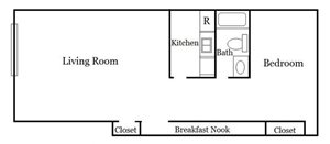 1 Bedroom Unit Plan B