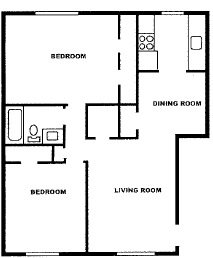 2 Bedroom Garden Floor Plan 1