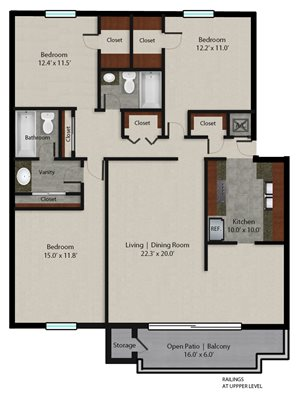 Palmera Pointe Queen Palm Floor Plan