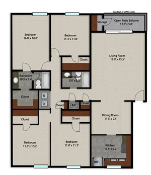 Palmera Pointe Royal Palm Floor Plan