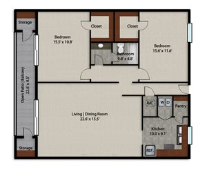 Palmera Pointe Sabal Palm Floor Plan