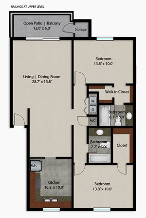 Palmera Pointe Sylvestris Palm Floor Plan
