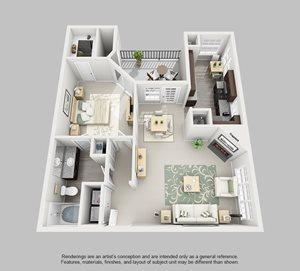 Perimeter Circle Apartment Homes - 1 Bedroom 1 Bath Apartment