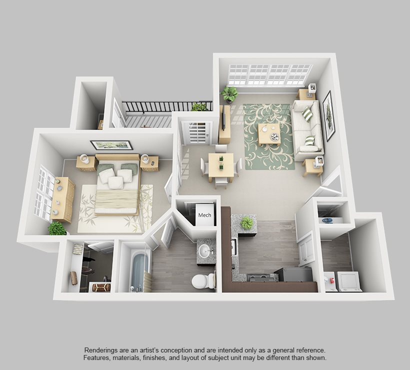 Perimeter 5550 Apartment Homes - 1 Bedroom 1 Bath Apartment