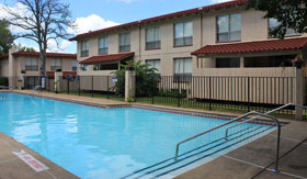 Outdoor Pool at Cedar Trace Apartments in Maryland Heights