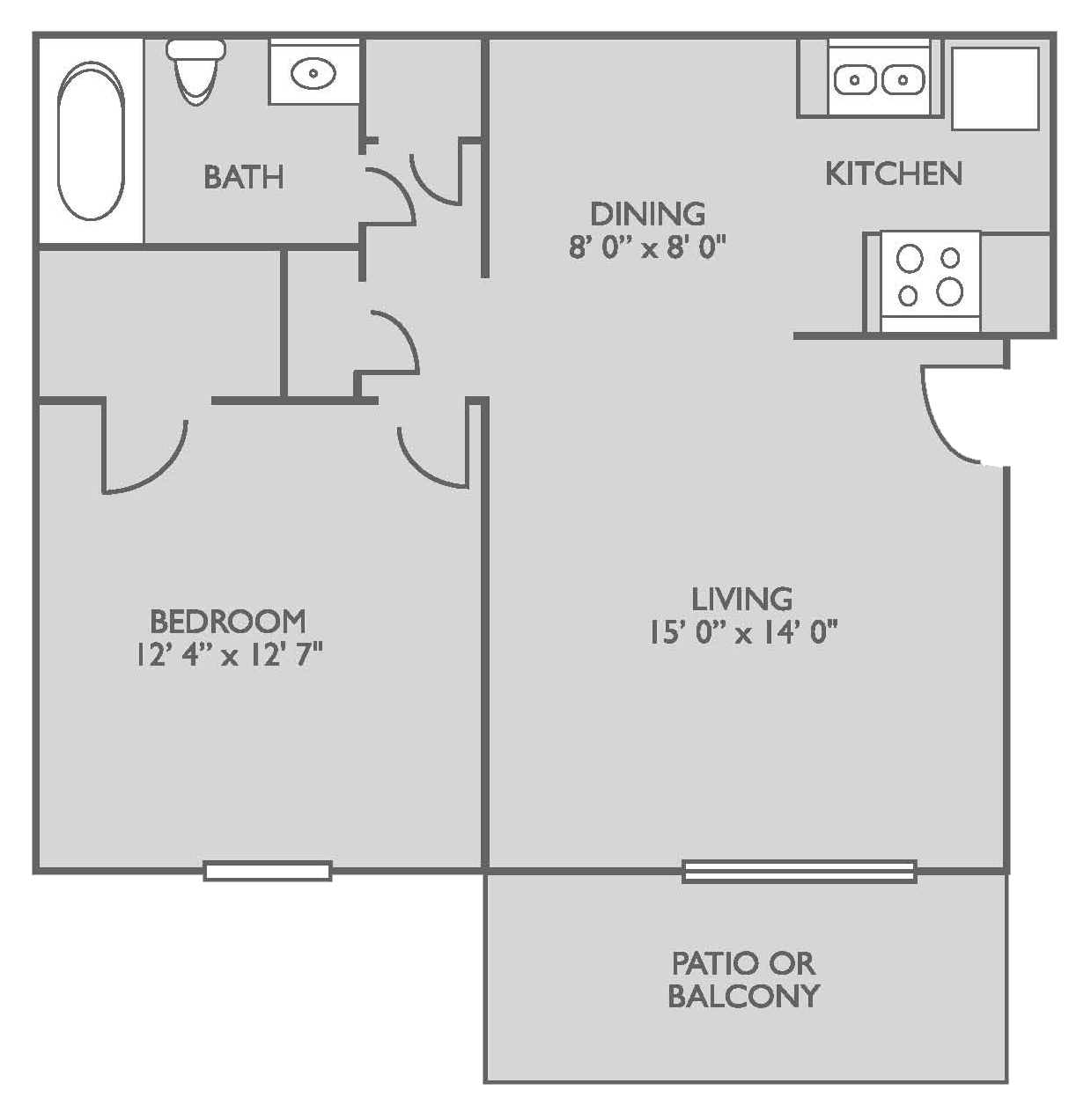 Floor Plans Of The Views On Pelham Apartments In
