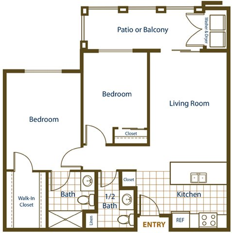 2x1.5 - Affordable Floor Plan 2