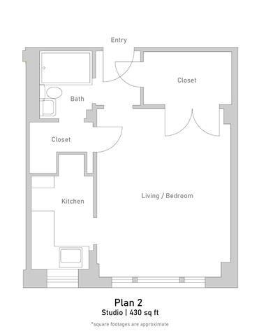 Studio - Plan 2