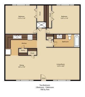 Tucson Apt Floor Plan