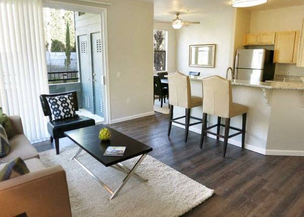 Living Room and Kitchen l Seville at Mace Ranch in Davis CA