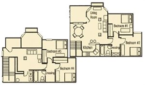 4 Bedroom 2 Bathroom Townhouse