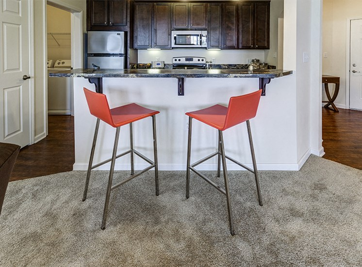 Mirbeau Style Floorplan Kitchen Breakfast Bar