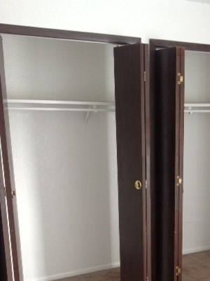 Some of our units offer double door closets, while some offer walk in closets. Both have a great amount of space for all your belongings!