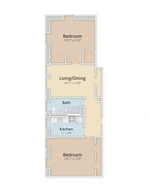 Cathedral Mansions Woodley Park Washington DC two bedroom floor plan