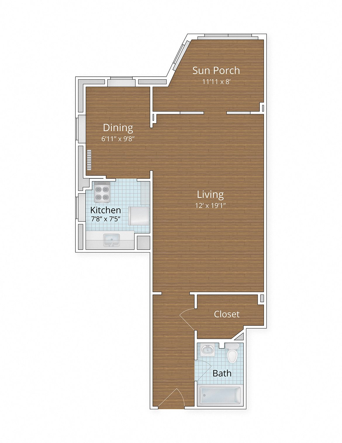 Floor Plans | Studio Apartments Adams Morgan | 1 Bedroom ...