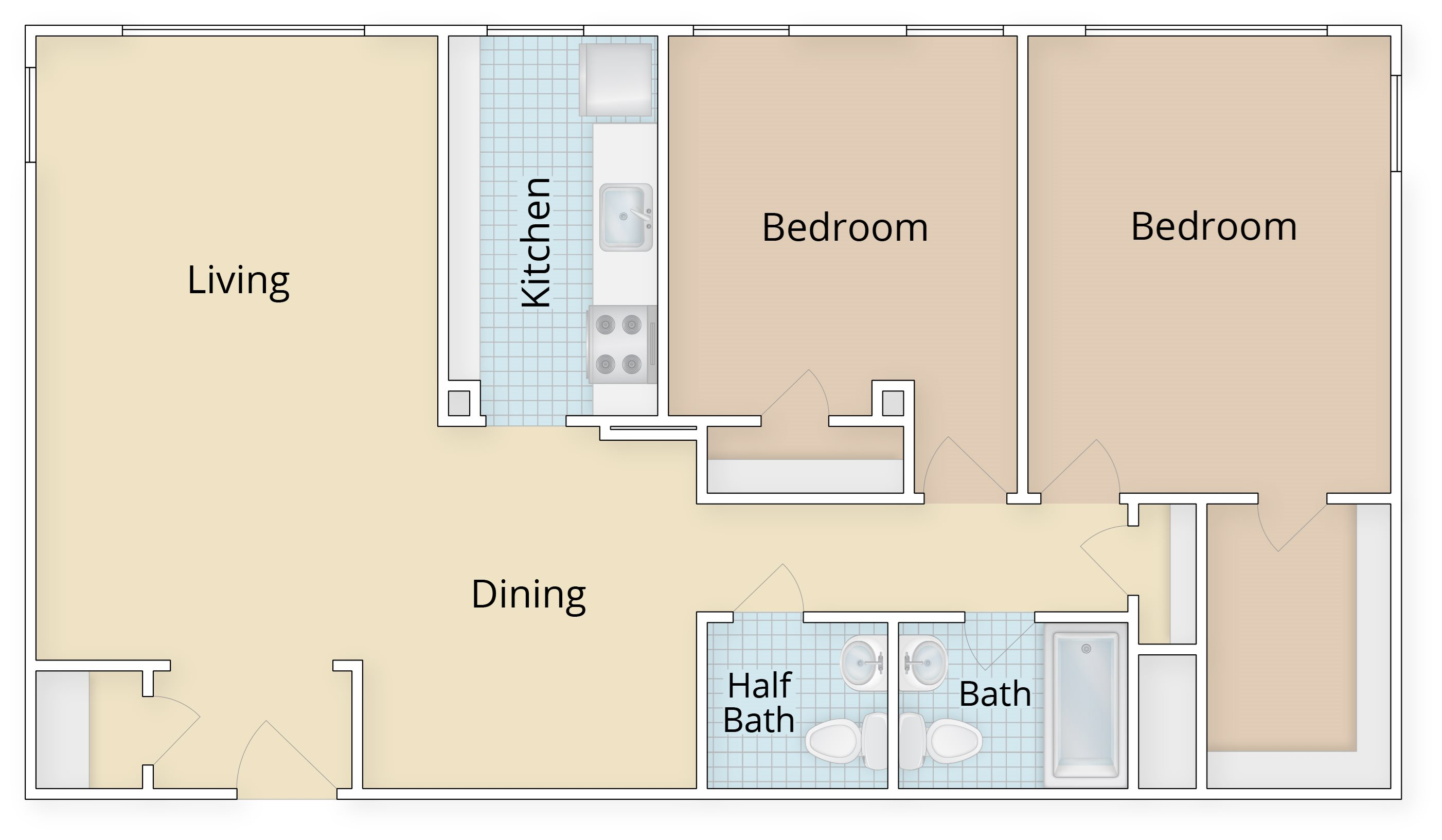 Floor plans studio apartments potomac yard 1 bedroom - One bedroom apartments alexandria va ...