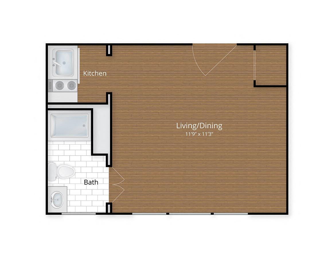 Floor plans studio apartments adams morgan 1 bedroom - 1 bedroom apartments washington dc ...