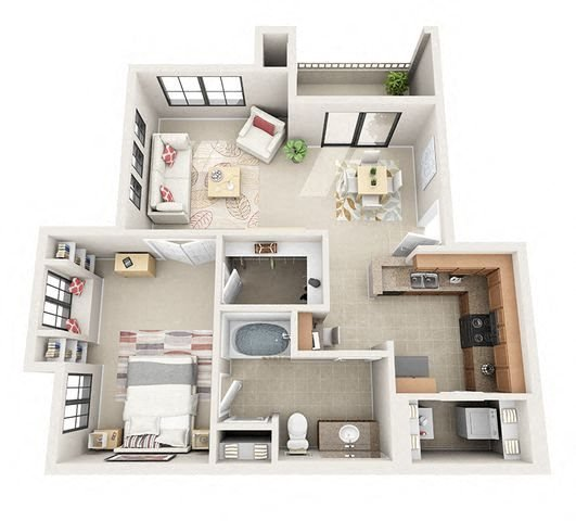 Available One Bedroom Apartments: Centennial At 5th Apartments