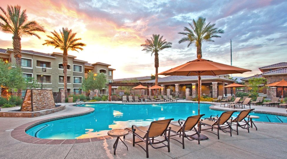Luxury Apartments Pool. Swimming Pool at Centennial 5th Luxury Apartment Homes North Las Vegas  Nevada 89084 Apartments NV