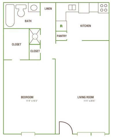 One Bedroom W/1 Bath