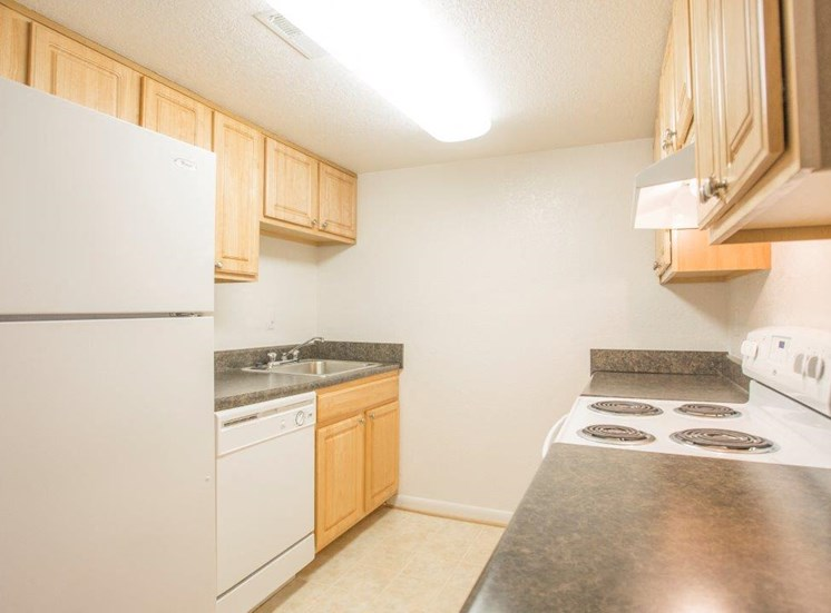 Kitchen at apartments for rent in Portsmouth VA