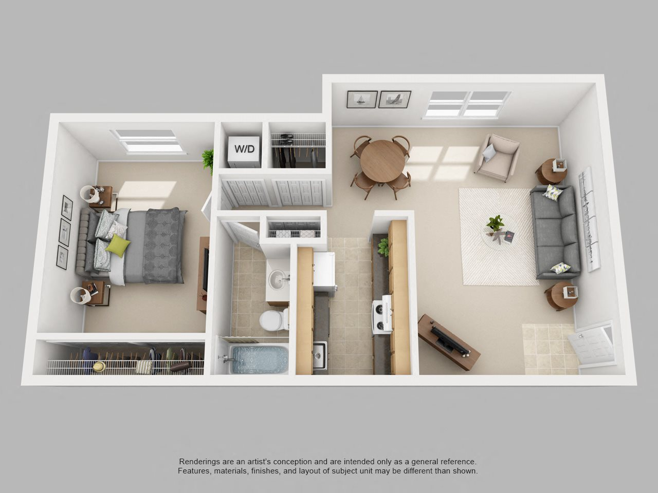 1BR-A Floor Plan 1