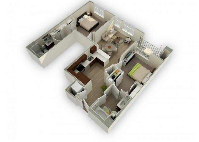 B4 - U floor plan.