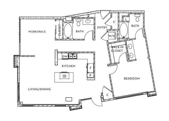 LW - 1 floor plan.