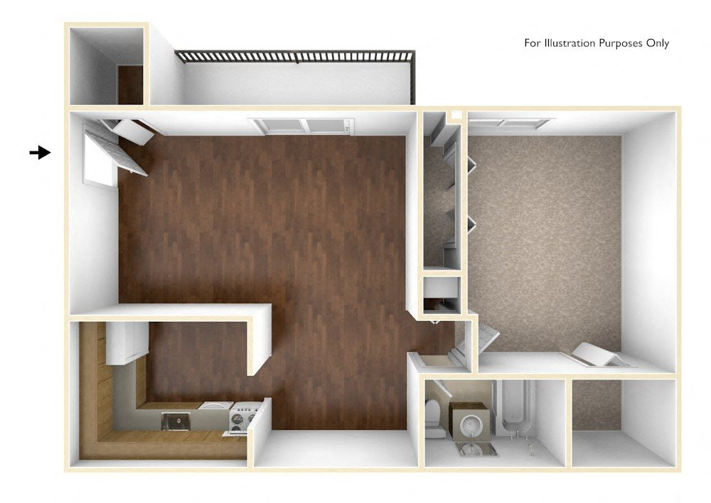 one bedroom apartment floor plan rolling green apartments - One Bedroom Apartment Floor Plans