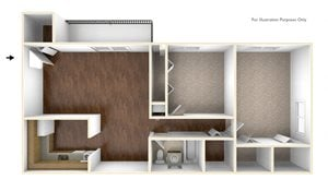 Two Bedroom Apartment Floor Plan Rolling Green Apartments